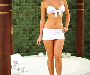 Little white bikini on a..