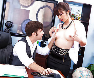 Asian office slut..