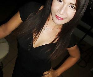 Brunette teen Asian ladyboy Pu..