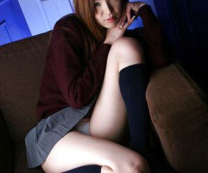 Sweet asian schoolgirl Mai Hanano..