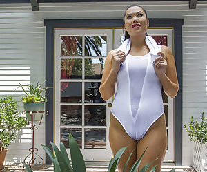 Wet Asian babe London Keyes is..
