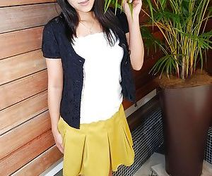 Decent Asian milf in skirt Yumiko..