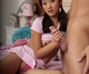 Cute Asian teen is nailed hard by..