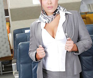Gorgeous asian air hostess..