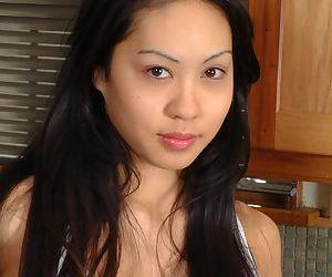 Pretty Asian first timer Milla..