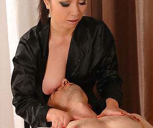Older Asian masseuse Midori..