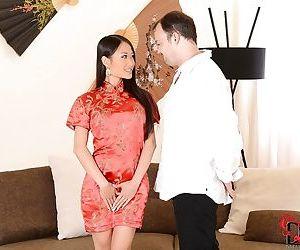 Neat Asian brunette PussyKat..