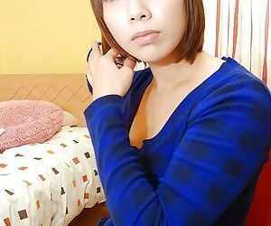 Busty asian cutie with shaggy..