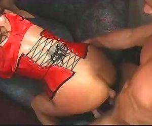 Ava Devine in a sweaty threesome