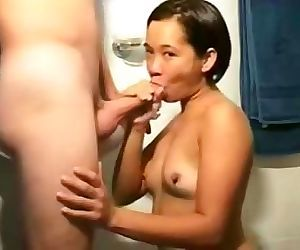 Hot asian amateur deepthroats and..