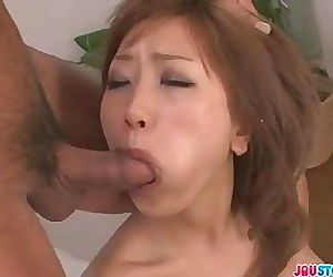 Aika horny chick double blowjob..