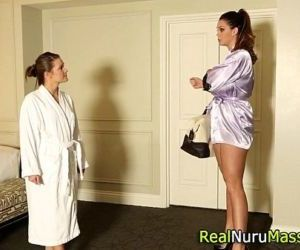 Lesbian masseuse..