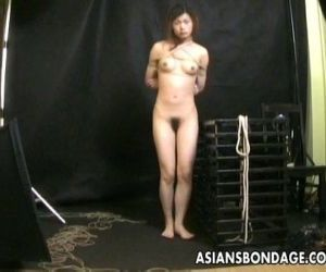 Bound Asian gets treated to a..