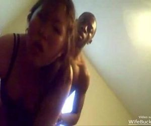Amateur asian wife fucking black..