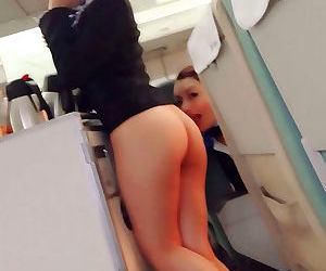 Hot asian stewardess