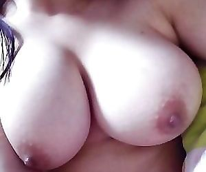 My busty girlfriends spreads her..