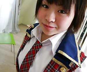 Asian schoolgirl Mayu Nakane..