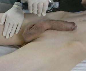 SKINNY Boy with huge cock CUMS..