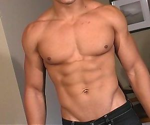 Hot bi latin men shows off his hot masculine rock body and..