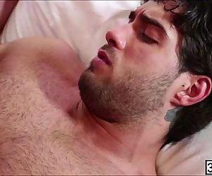 Horny ass dude Ricky Larkin invited Diego Sans to slam his..