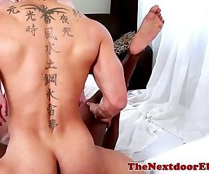 Interacial gay trio enjoy hardcore funHD