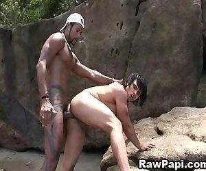 Ass Bareback Fucking With Latino Gay