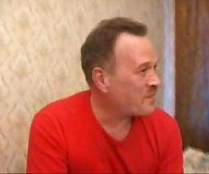 Lucky Older Russian Playing Poker Wins Twinks Ass