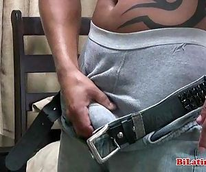 Straight latin papi with a nice thick uncut cock, jerks..