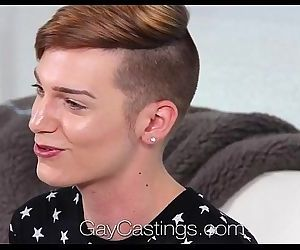 HD GayCastingsYoung twink Lenox huge facial by amateurHD