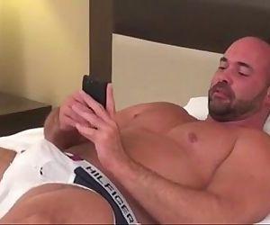 Two muscular jocks fuck