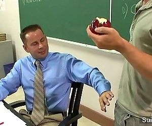 Sinful gay teacher gets nailed by gay student in classroomHD