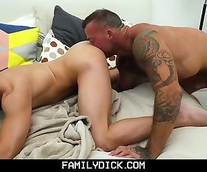 FamilyDick - Muscular Step Daddy Breeds His Boy's Tight..