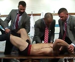 MAP Handsome suited coach gets stripped and abused by his..