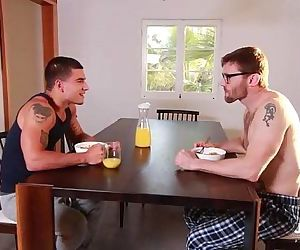 Bearded redhead dad and muscle son flip fuckPornhub.com
