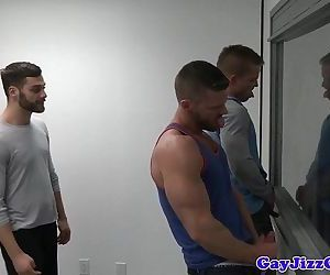 Gaysex orgy hunks blow during mugshotHD