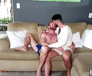 Handsome men ripped anal