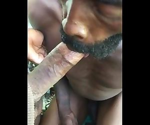 Filming black homeless sucking his homies black cock
