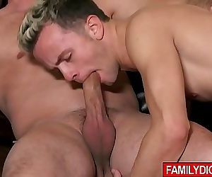 Dont tell mom! Dad Lance Hart is secretly fucking his own son and they are both loving it! 7 min 720p