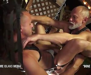 BONE READY - Muscle daddy destroys Nate Grimes