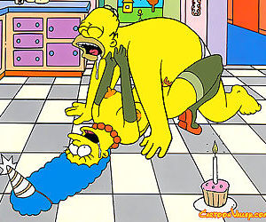 Its marges birthday and homer has..
