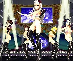 3D MMD Big Titted Takara, Azusa,..