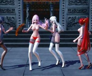3D MMD Chinese and Japanese Girls..