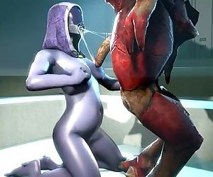 Mass effect Tali blowing Krogan..