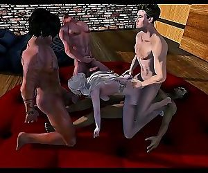 Second Life gangbang 11 min HD