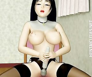 3D hentai nun in stockings dildo..