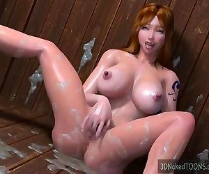 Family jerk off session with the..