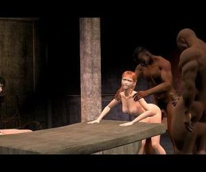 3D Animated Cuckold interracial..