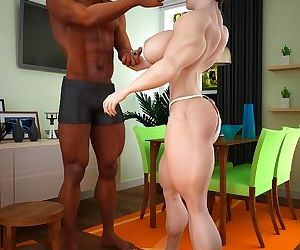 Muscled brunette wants to suck..