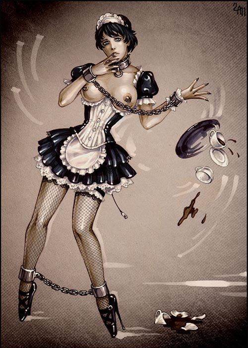 bondage cartoon maid slave