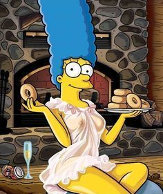 Sexy Cartoon Marge in Lingerie